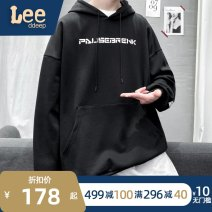 Sweater Youth fashion XOQ Black grey M L XL 2XL 3XL Solid color Socket routine Hood spring easy leisure time teenagers tide routine W08 Fleece  Cotton 100% cotton printing No iron treatment Spring 2021 More than 95% Kangaroo pocket Japanese and Korean style
