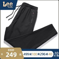 Casual pants XOQ Youth fashion Black grey M L XL 2XL 3XL 4XL routine trousers Other leisure Self cultivation Micro bomb summer youth tide 2021 middle-waisted Little feet Polyamide fiber (nylon) 90% polyurethane elastic fiber (spandex) 10% Sports pants Pocket decoration No iron treatment Solid color