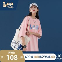 T-shirt Youth fashion White powder black blue yellow grey routine M L XL 2XL 3XL 4XL XOQ Short sleeve Crew neck easy Other leisure summer 2112101Z - two Cotton 100% teenagers routine tide Summer 2021 letter printing cotton Brand logo No iron treatment International brands More than 95%