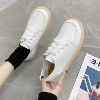 Low top shoes 35 36 37 38 39 40 Ml & LQ / charming love song Black and white Round head PU Flat bottom Low heel (1-3cm) Midmouth cloth Spring 2020 Frenulum solar system Adhesive shoes Youth (18-40 years old) Solid color TPR (tendon) Single shoes cloth leisure time Pure e-commerce (online only)