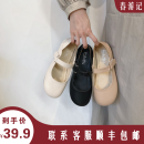 Low top shoes 35 36 37 38 39 Shahuan Black Beige apricot Round head PU Flat bottom Low heel (1-3cm) Shallow mouth PU Spring 2020 Trochanter leisure time Adhesive shoes Youth (18-40 years old) Solid color rubber Single shoes Shallow mouth PU leisure time 2020/3/23/10