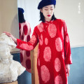 Dress Winter of 2019 M, L Mid length dress singleton  Long sleeves commute stand collar routine Type H Retro