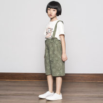 trousers akclub kids male 110cm 120cm 130cm 140cm 150cm 160cm White army green spring and autumn shorts leisure time There are models in the real shooting rompers Button / zipper middle-waisted flax Don't open the crotch Flax 53.20% cotton 46.8% Class B Spring of 2018 9, 10, 11, 12