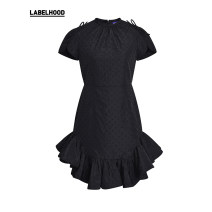 Dress Spring 2021 black XS S M L XL Short skirt singleton  middle-waisted Solid color Ruffle Skirt 25-29 years old SHUSHU TONG LF21C03O01B456 More than 95% other Other 100% Same model in shopping mall (sold online and offline)