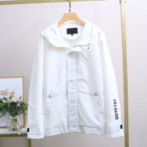 Jacket Xking / Exxon other White, beige M,L,XL,2XL,3XL,4XL routine standard Other leisure spring Polyamide fiber (nylon) 70% Cotton 30% Long sleeves Wear out Hood teenagers routine Zipper placket 2021 nylon 70% (inclusive) - 79% (inclusive)