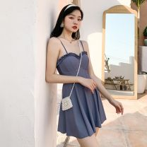 one piece  AROU M,L,XL Gray blue Triangle one piece swimsuit With chest pad without steel support nylon AROU203 female Sleeveless Casual swimsuit other