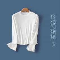 Wool knitwear Autumn of 2019 S,M,L,XL,2XL White a-7-13-5 Long sleeves singleton  Socket other 31% (inclusive) - 50% (inclusive) routine commute Self cultivation High collar pagoda sleeve Solid color Socket Simplicity Lady Boya