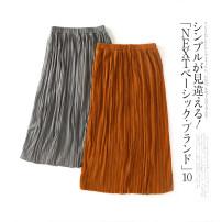 skirt Spring 2021 Mid length dress Natural waist Decor More than 95% other Lady Boya