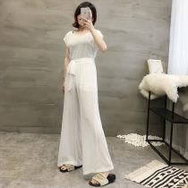 Fashion suit Summer of 2018 1X 2X 3X S M L XL XXL White 27-e-3 black 27-e-3 white (single top) 27-e-2 black (single top) 27-e-2 white (single pants) 27-e-2 black (single pants) 27-e-2 Allie Aixi five thousand four hundred and twenty-nine