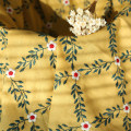 Fabric / fabric / handmade DIY fabric cotton Yellow half meter Loose shear rice Plants and flowers Other hand-made DIY fabrics Countryside 81% (inclusive) - 90% (inclusive) L063 Zhejiang Province Shaoxing Chinese Mainland