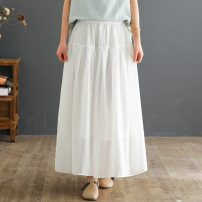 skirt Summer 2021 Average size Bean green white yellow Khaki Green longuette commute Natural waist A-line skirt Solid color 30-34 years old KERLTOEN20210405004 More than 95% Keerlten / Kato other pocket Other 100% Pure e-commerce (online only)
