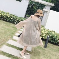 Wool knitwear Summer of 2018 Average size Long sleeves singleton  Cardigan other More than 95% Medium length Thin money commute easy other other Solid color Korean version 18-24 years old Uniday Polyester 95% cotton 5% Pure e-commerce (online only)