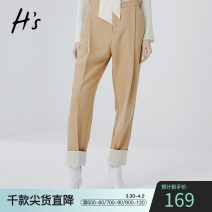 Casual pants Camel S/155 M/160 L/165 XL/170 Spring of 2019 Ninth pants Haren pants High waist routine 25-29 years old H'S Polyester 100% Same model in shopping mall (sold online and offline)