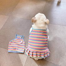 Pet clothing / raincoat currency vest M bust 46, length 30, l bust 51, length 35, XL bust 57, length 39, 2XL bust 68, length 31, FB bust 61, length 27 Other / other leisure time Blue and red striped seagull vest, blue and red striped seagull skirt cotton