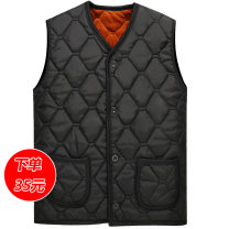 Vest / vest other Old flat shirt L XL XXL XXXL 4XL Other leisure standard Vest Plush and thicken autumn V-neck old age 2017 Single breasted Cloth hem Polyester 100% Silk like cotton Winter 2017 Pure e-commerce (online only)