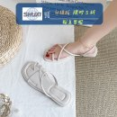 Sandals 35 36 37 38 39 40 Versatile black (Collection Plus gift) ❤ First delivery) foreign style white (Collection Plus gift) ❤ First delivery) black comfort upgrade [76% little sister's choice] ❤ 】White comfort upgrade [76% little sister's choice ❤ 】 PU Shuxi Barefoot Flat bottom Low heel (1-3cm) PU