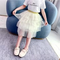 skirt 110cm,120cm,130cm,140cm,150cm,160cm Off white Other / other female Cotton 95% other 5% spring and autumn skirt princess Solid color Cake skirt cotton Class B