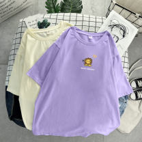 T-shirt M L XL 2XL 3XL 4XL 5XL 6XL Summer 2020 Short sleeve Crew neck easy Regular routine commute cotton 96% and above 18-24 years old Korean version originality Cartoon animation Several seedlings printing Cotton 100% Pure e-commerce (online only)