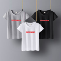 T-shirt S M L XL 2XL 3XL Summer of 2019 Short sleeve Crew neck easy Regular routine commute cotton 96% and above 25-29 years old Korean version Letter solid color Chaowuphene CWF19T529Y printing Cotton 100% Pure e-commerce (online only)