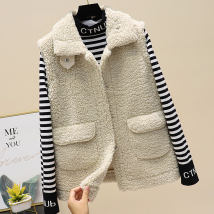 Vest Autumn 2020 Off white coffee Khaki M L XL have cash less than that is registered in the accounts Polo collar three thousand two hundred and fifty-four Fanmeilin