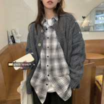 shirt Picture color S M L XL Spring 2021 polyester fiber 96% and above Long sleeves commute Regular other Single row multi button routine lattice 18-24 years old Straight cylinder Hemosa Korean version Polyester 100% Exclusive payment of tmall