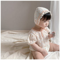 Jumpsuit / climbing suit / Khaki Other / other Class A female cotton summer Short sleeve leisure time There are models in the real shooting nothing Socket Ha Yi 3 months, 6 months, 12 months, 18 months, 9 months