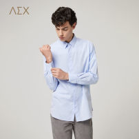 shirt Business gentleman AEX 175/96A 180/100A 170/88A 175/92A 180/104A Light blue 50 Thin money Pointed collar (regular) Long sleeves standard go to work autumn KNCAJ38032A youth Cotton 100% Business Formal  2018 Solid color Summer of 2018