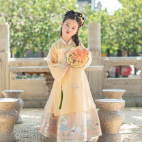 Tang costume 110cm 120cm 130cm 140cm 150cm Polyester 98.00% polyurethane elastic fiber (spandex) 2% female summer There are models in the real shooting Thin money Initial establishment other Class B other Chinese Mainland Guangdong Province Summer 2020 Guangzhou City