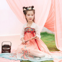 Tang costume 110cm 120cm 130cm 140cm 150cm Polyethylene terephthalate (PET) 98% polyurethane elastic fiber (spandex) 2% female summer There are models in the real shooting Thin money Initial establishment other Class B other Chinese Mainland Guangdong Province Summer 2020 Guangzhou City