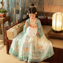 Tang costume One dress - May 10 one dress - May 30 110cm 120cm 130cm 140cm 150cm Polyethylene terephthalate (PET) 98% polyurethane elastic fiber (spandex) 2% female spring and autumn There are models in the real shooting Thin money Initial establishment polyester fiber Class B other czbzx012