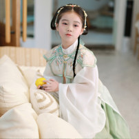 Tang costume 110cm 120cm 130cm 140cm 150cm Polyethylene terephthalate (PET) 98% polyurethane elastic fiber (spandex) 2% female spring and autumn There are models in the real shooting routine Initial establishment polyester fiber Class B other CAJ094 Chinese Mainland Guangdong Province Spring 2021