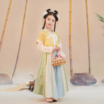 Tang costume Lower skirt - May 30 hair lining + Half Sleeve - May 30 hair 110cm 120cm 130cm 140cm 150cm Polyethylene terephthalate (PET) 98% polyurethane elastic fiber (spandex) 2% female spring and autumn There are models in the real shooting routine Initial establishment polyester fiber Class B