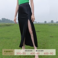 skirt Summer 2020 XS S M L White black Mid length dress Versatile High waist High waist skirt Solid color T-type 30-34 years old SS19Q064-C 30% and below other Mix Selection polyester fiber Triacetate 78% polyester 22% Pure e-commerce (online only)