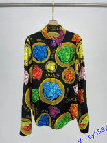 shirt Graph color L,M,S Summer 2021 other 96% and above Versatile Single row multi button Yuetrade Print, button real silk