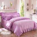 Bedding Set / four piece set / multi piece set cotton Embroidery, quilting Solid color 133x72 Other / other cotton 4 pieces 40 High end embroidery Pink (4-piece set), high end embroidery jade (4-piece set), high end embroidery Beige (4-piece set), high end embroidery purple (4-piece set) First Grade