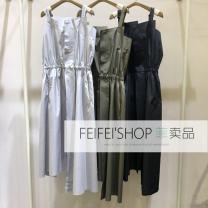 Dress Summer 2020 045 light blue gray, 360 forest green, 001 Ben black XS150,S155,M160,L165,XL170 JNBY / Jiangnan cloth clothing