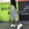 skirt Summer of 2019 M L Khaki light green Mid length dress commute High waist A-line skirt other Type A 18-24 years old More than 95% Mushiti cotton pocket Korean version Cotton 100% Pure e-commerce (online only)