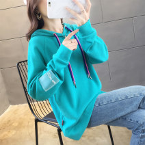 Sweater / sweater Autumn of 2019 M L XL XXL XXXL Long sleeves routine Socket singleton  routine Hood easy commute routine letter 18-24 years old 51% (inclusive) - 70% (inclusive) Doyen Korean version polyester fiber Drawstring cotton Cotton liner Polyester 65% cotton 35% Pure e-commerce (online only)