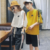 Casual suit Summer of 2018 Yellow T red t white T black [pants] SMLXLXXLXXXL 18-25 years old YY558 Code after code Polyester 65% cotton 35% Pure e-commerce (online only)
