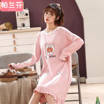 Nightdress Palanquin [65] WL # 8509 # little bear 160(M) 165(L) 170(XL) 175(XXL) 3XL Cartoon Long sleeves pajamas longuette autumn Cartoon animation youth Crew neck cotton printing 21% (inclusive) - 40% (inclusive) Knitted cotton 311-90090212 200g and below Autumn 2020 Polyester 65% cotton 35%