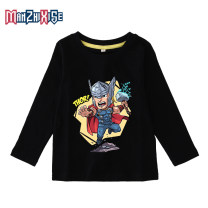 T-shirt Gray 1, yellow 1, blue 1, red 1, black 1, white 1, gray 2, yellow 2, blue 2, red 2, black 2, white 2, gray 3, yellow 3, blue 3, red 3, black 3, white 3 Diffuse fine color 90cm,100cm,110cm,120cm,130cm,140cm,150cm neutral No season Long sleeves Crew neck leisure time No model nothing cotton