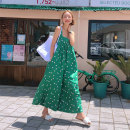 Casual pants Green dot white dot S M L XL Summer of 2019 Ninth pants rompers High waist commute Thin money 18-24 years old 91% (inclusive) - 95% (inclusive) MST 19040202 Charming Poetry polyester fiber Korean version pocket polyester fiber Other polyester 95% 5% Pure e-commerce (online only)