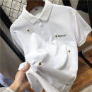 T-shirt Youth fashion white routine 170,175,180,185,190 Others Short sleeve Lapel Self cultivation Other leisure summer