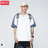 T-shirt Youth fashion Black, white routine XL,2XL,L,M Korean and Japanese Short sleeve Crew neck easy Other leisure summer youth routine other 2021 other printing The thought of writing