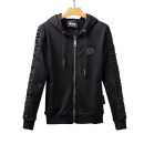 Sweater Youth fashion Available Lo Meng / moncolo black 170(M),175(L),180(XL),185(XXL),190(3XL) originality Cardigan routine Hood autumn Slim fit leisure time youth tide routine Fleece  cotton Embroidery No iron treatment More than 95%