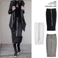 skirt Summer 2020 S,M,L Black, white, light grey Mid length dress Versatile Natural waist skirt Solid color Type H More than 95% knitting cotton 201g / m ^ 2 (including) - 250G / m ^ 2 (including)