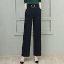 Casual pants black S M L XL 2XL 3XL Autumn 2020 trousers Wide leg pants High waist commute routine 30-34 years old 91% (inclusive) - 95% (inclusive) J599 Sophia other Korean version zipper Polyester 95.5% polyurethane elastic fiber (spandex) 4.5% Pure e-commerce (online only)