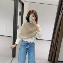 Wool knitwear Autumn 2020 M Sand color singleton  Socket other 31% (inclusive) - 50% (inclusive) have cash less than that is registered in the accounts routine commute Cape type High collar Solid color Socket Retro 25-29 years old