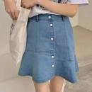 skirt Spring 2021 S (waist 64-70, length 42), m (waist 68-74, length 43), l (waist 72-78, length 43) Light blue, dark blue