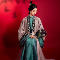 Hanfu 81% (inclusive) - 90% (inclusive) Summer 2020 Copper green collar sweaters will be delivered within 7 days, and purple pink cardigan sweaters will be delivered within 7 days XS,S,M,L,XL polyester fiber